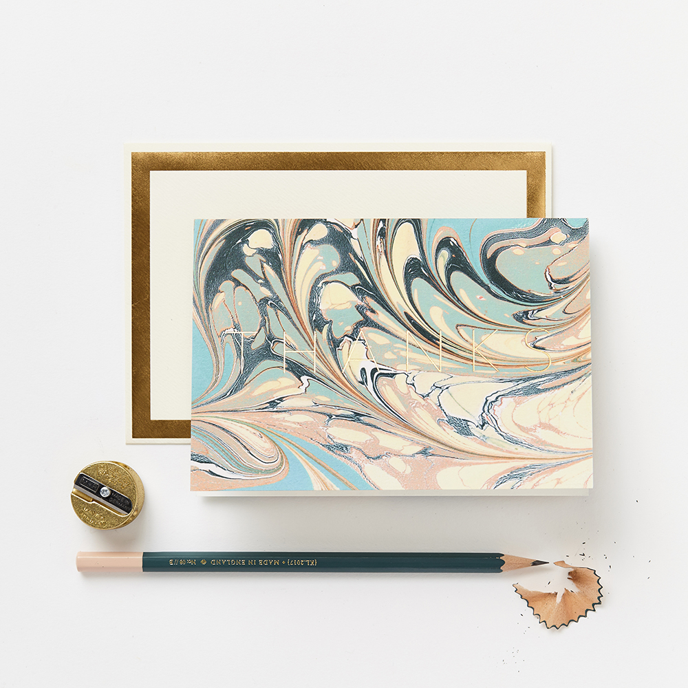 Marble Thanks Card by Katie Leamon - sale
