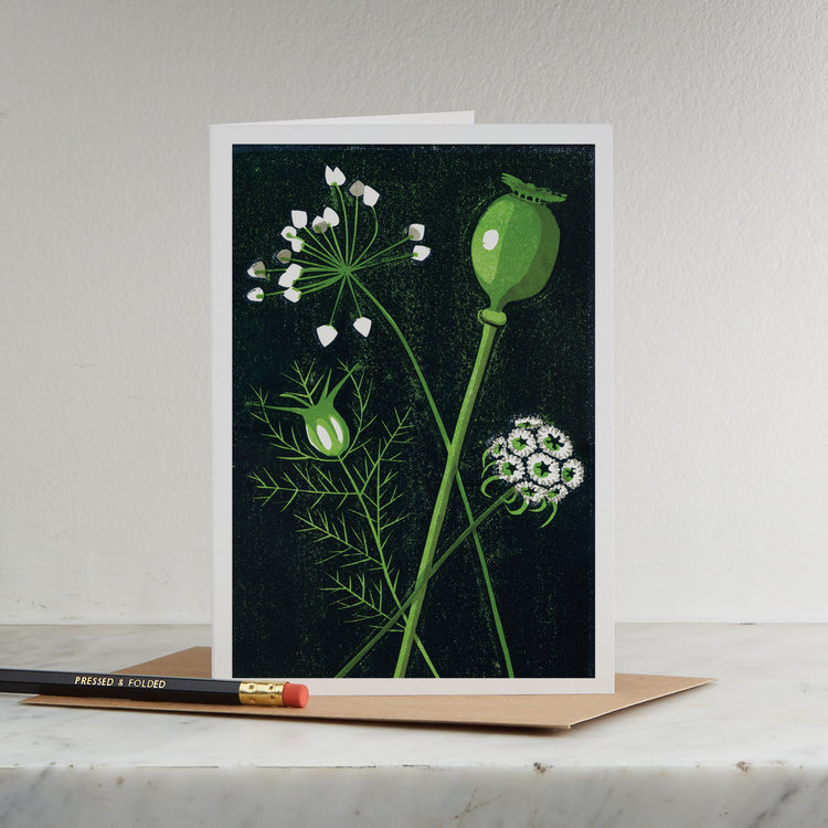 Seed Heads Card by Pressed & Folded