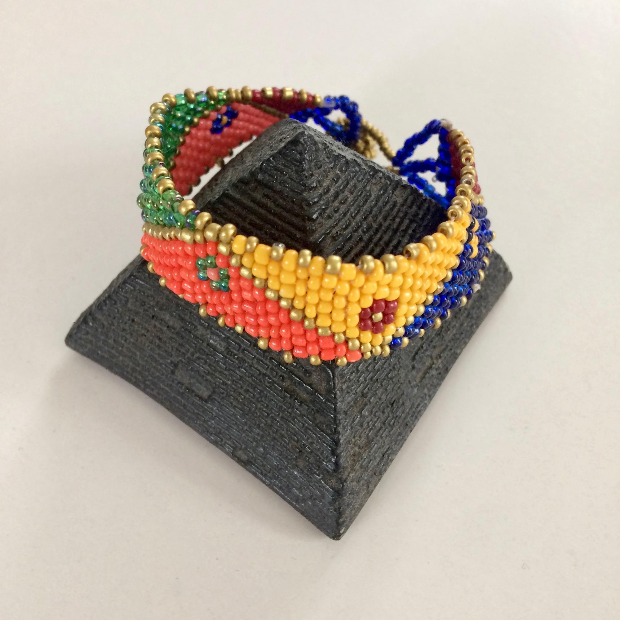 Bedouin Flat Beaded Bracelet - Multicolour