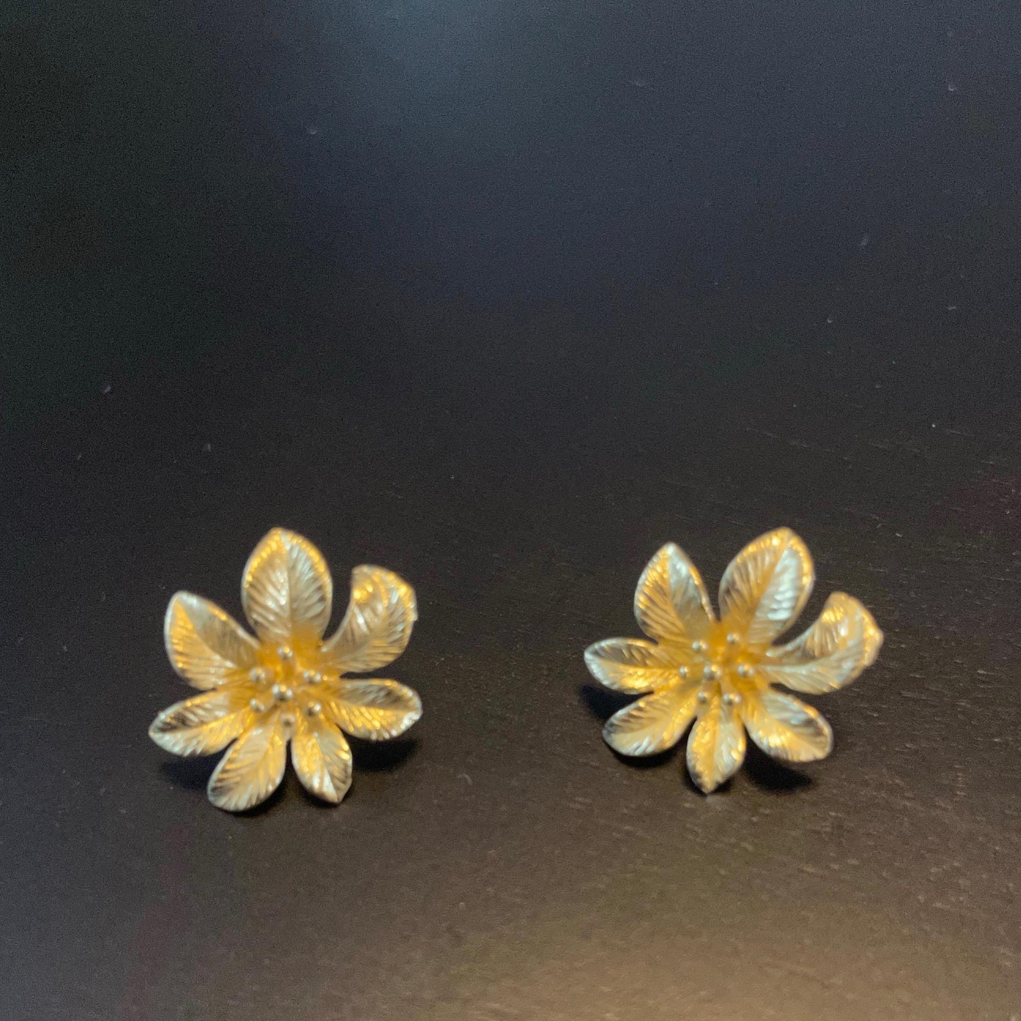 Irth Brass Flower Studs