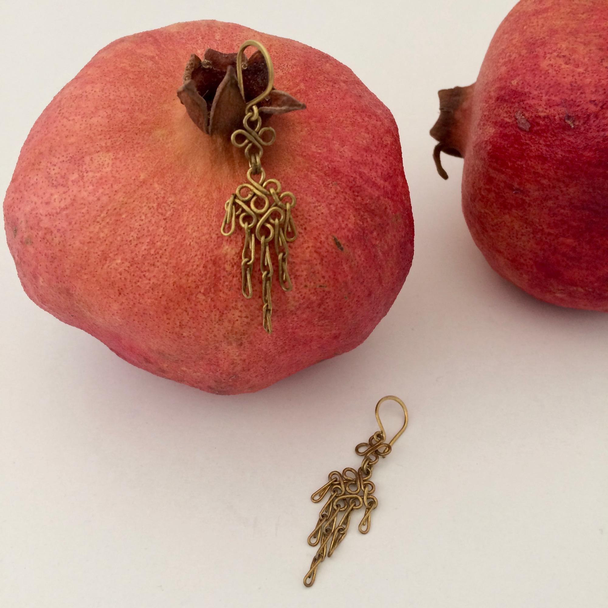 Small Brass Chandelier Earrings