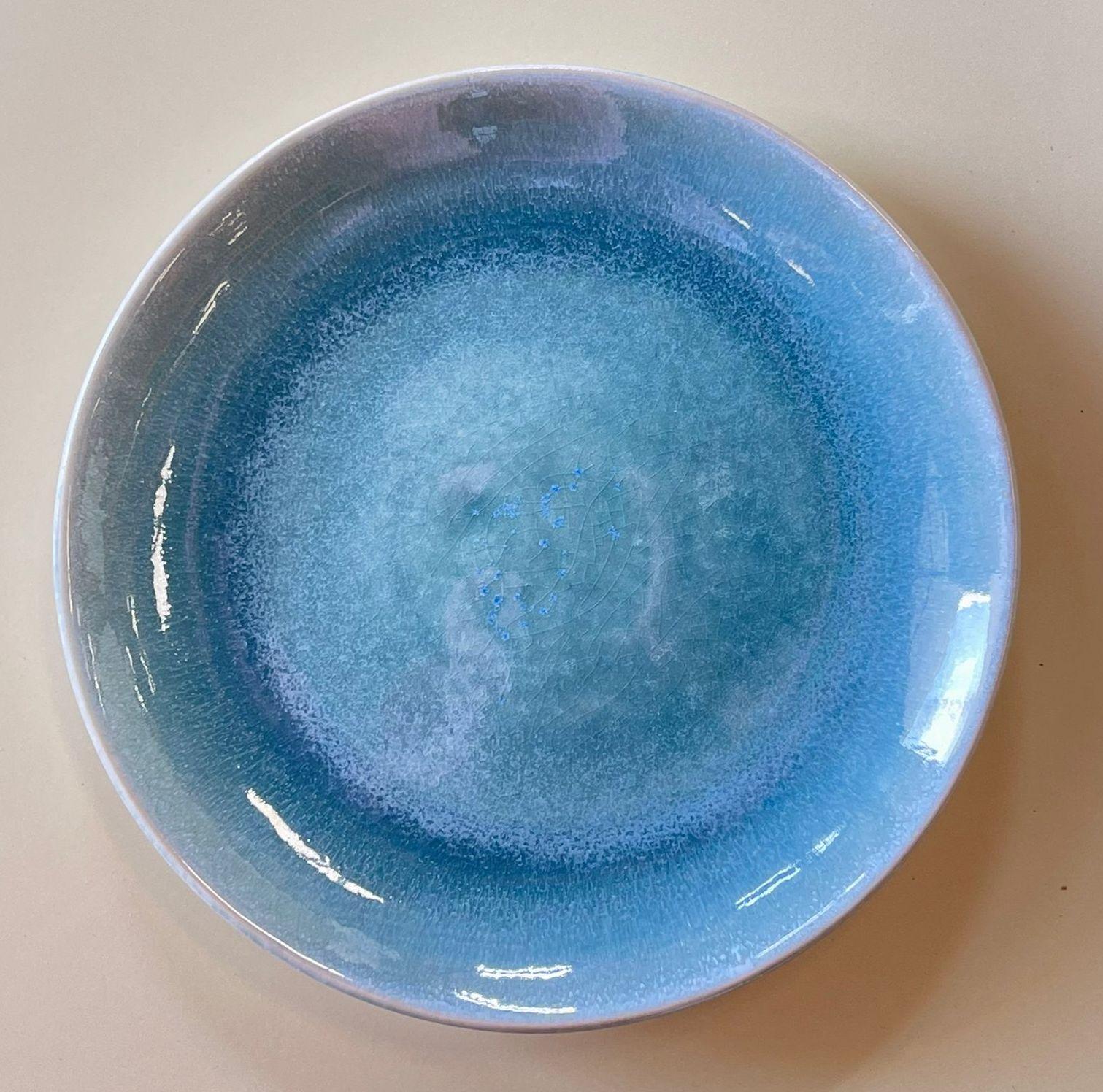Blue Lagoon Stoneware Dinner Plate