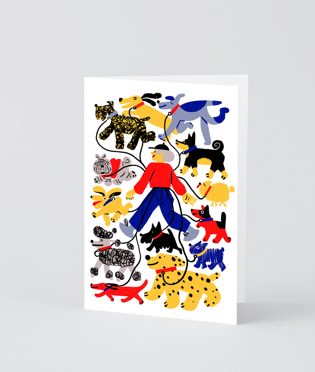 NY Dog Walker Card  by Wrap