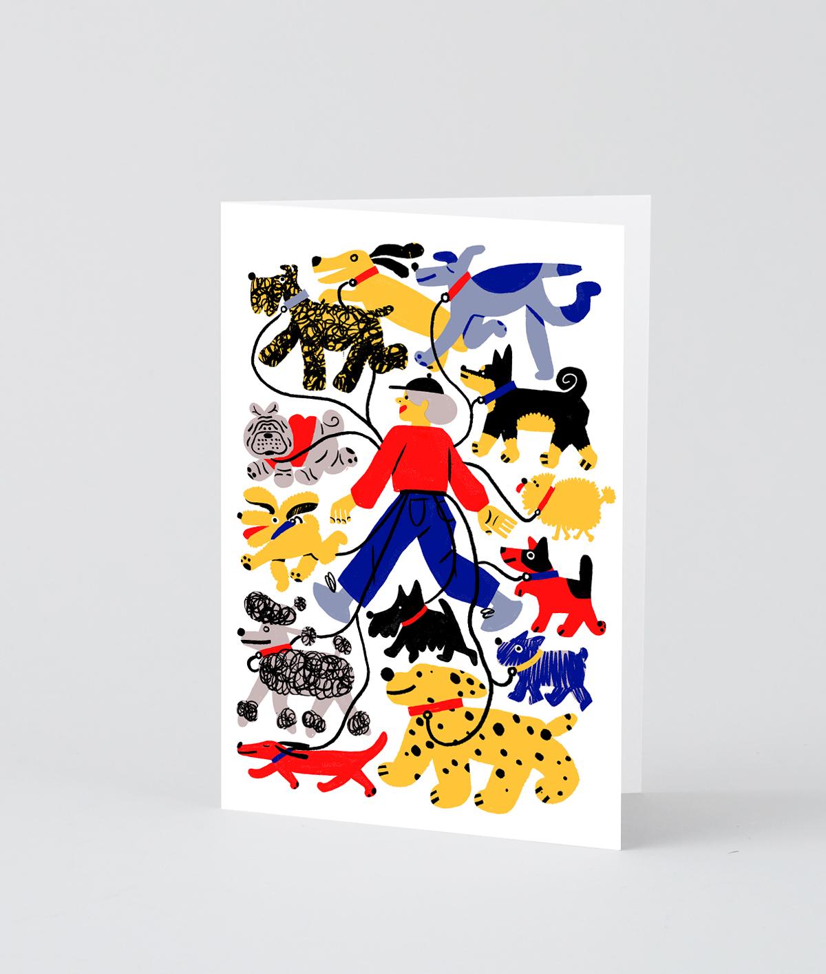 NY Dog Walker Card  by Wrap