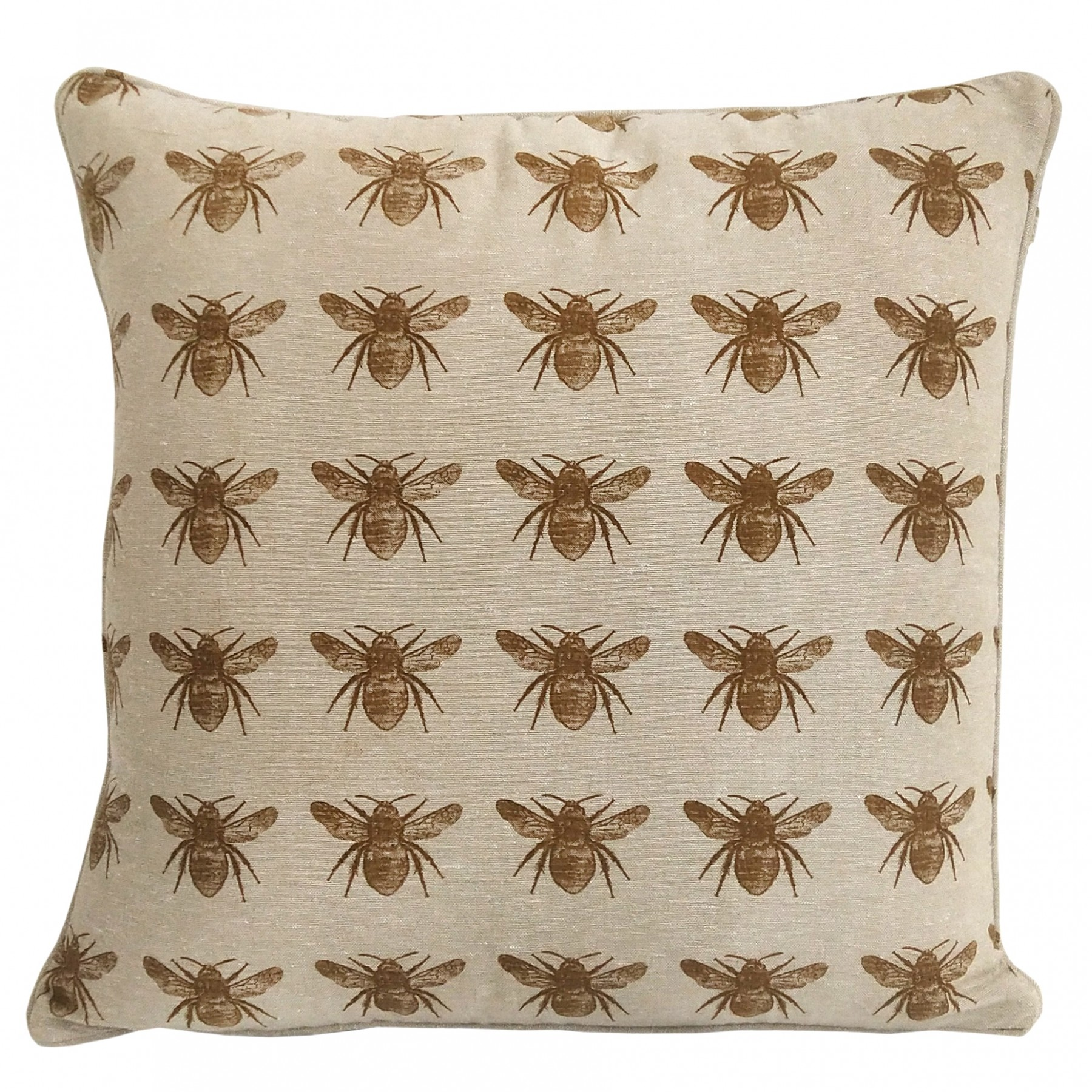 Honey Bee Cushion in Mustard Yellow