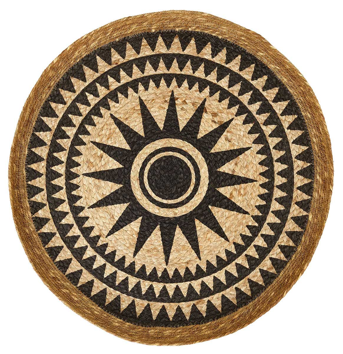 Liv Large Round Jute Disc with Star Design