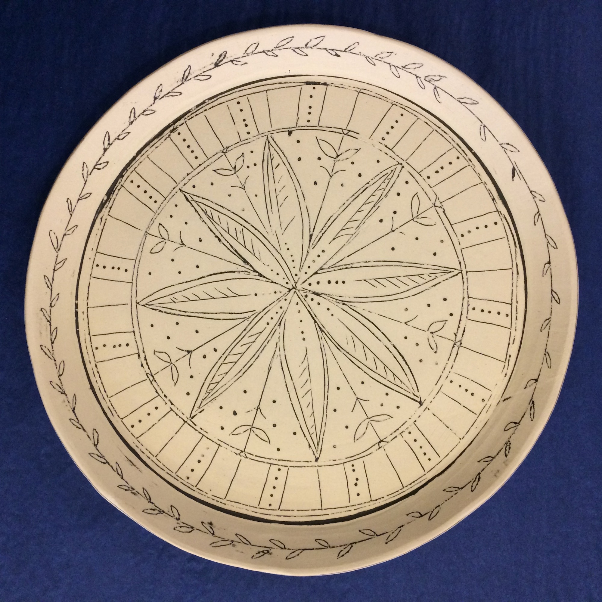 Large Stoneware Platter by Fiona Veacock