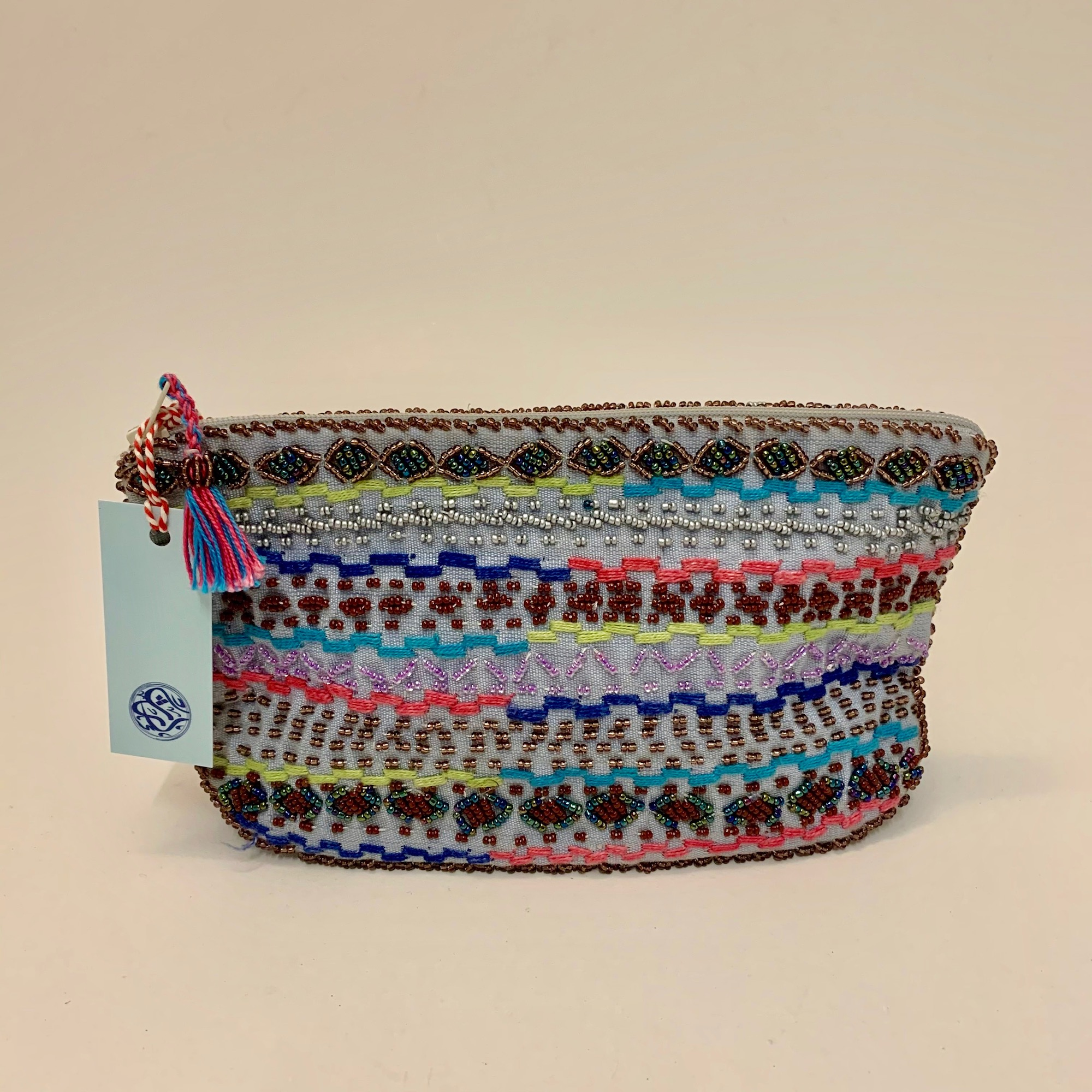 Bedouin Beaded Make-up Bags - Various Colours