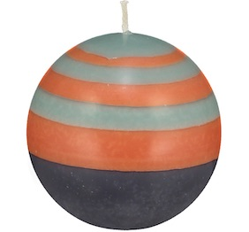 Small Striped ball Eco Candle