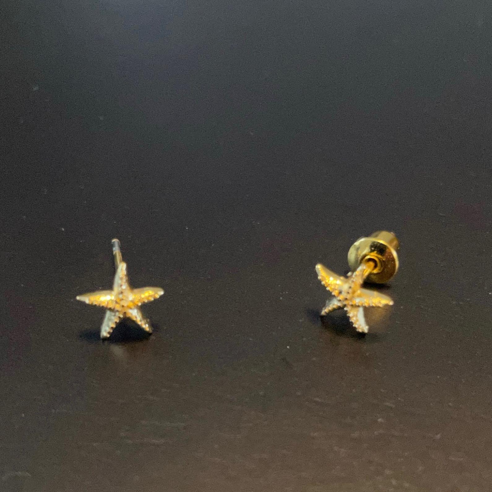 Irth Gold-plated Brass Starfish Studs