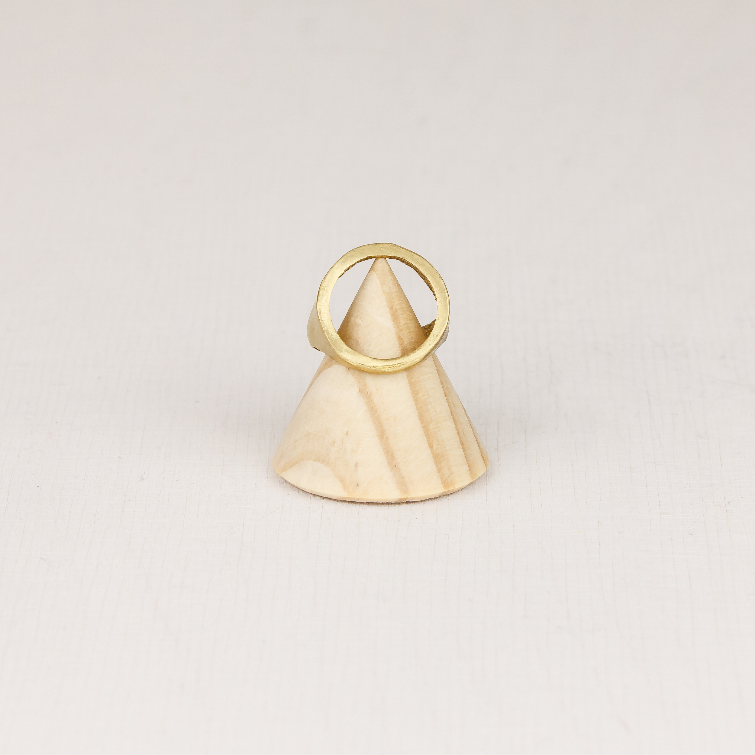 Brass Circle Adjustable Ring by State of A