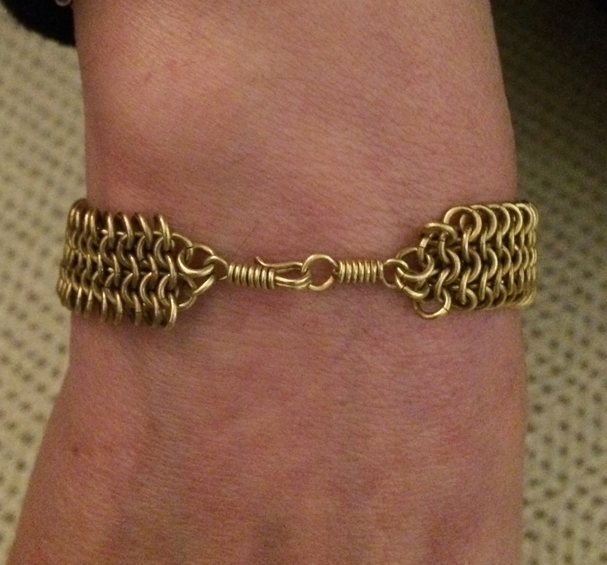 Samaka Flat Linked Brass Bracelet