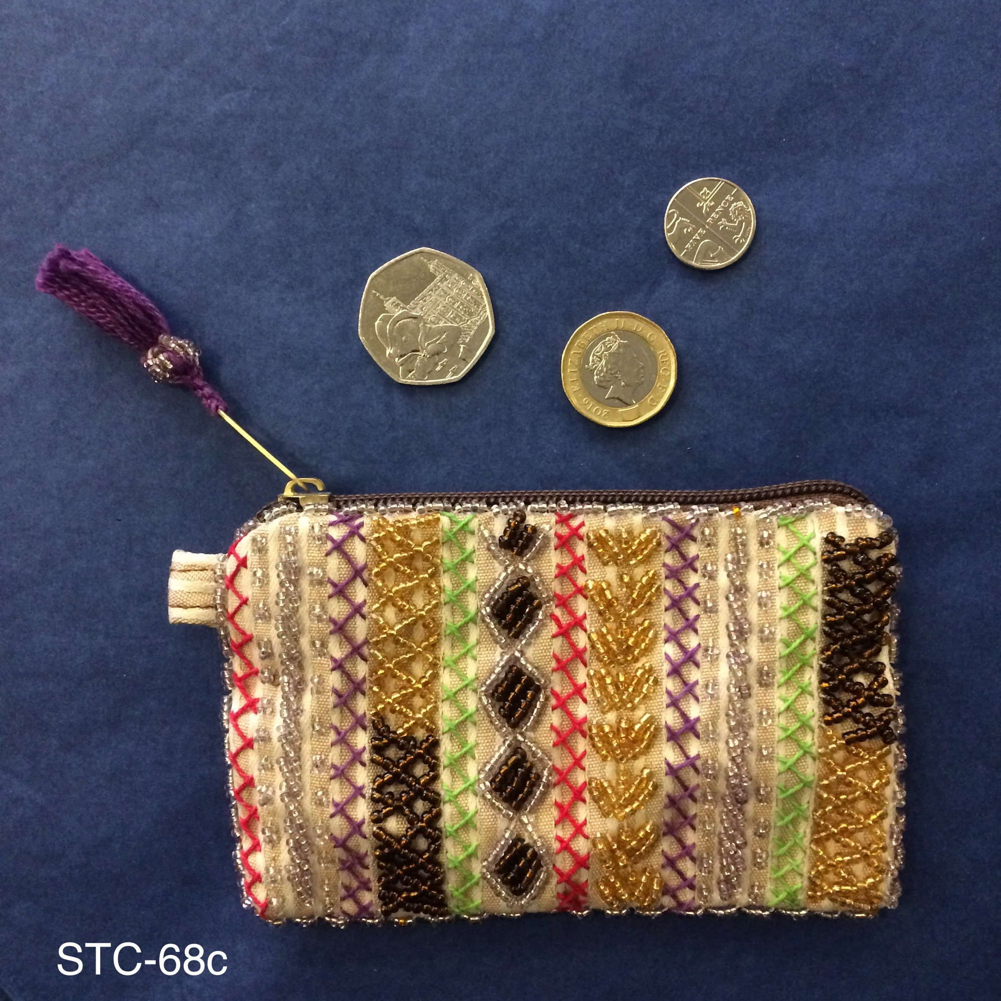 Small Bedouin Beaded Purse – Various Colours