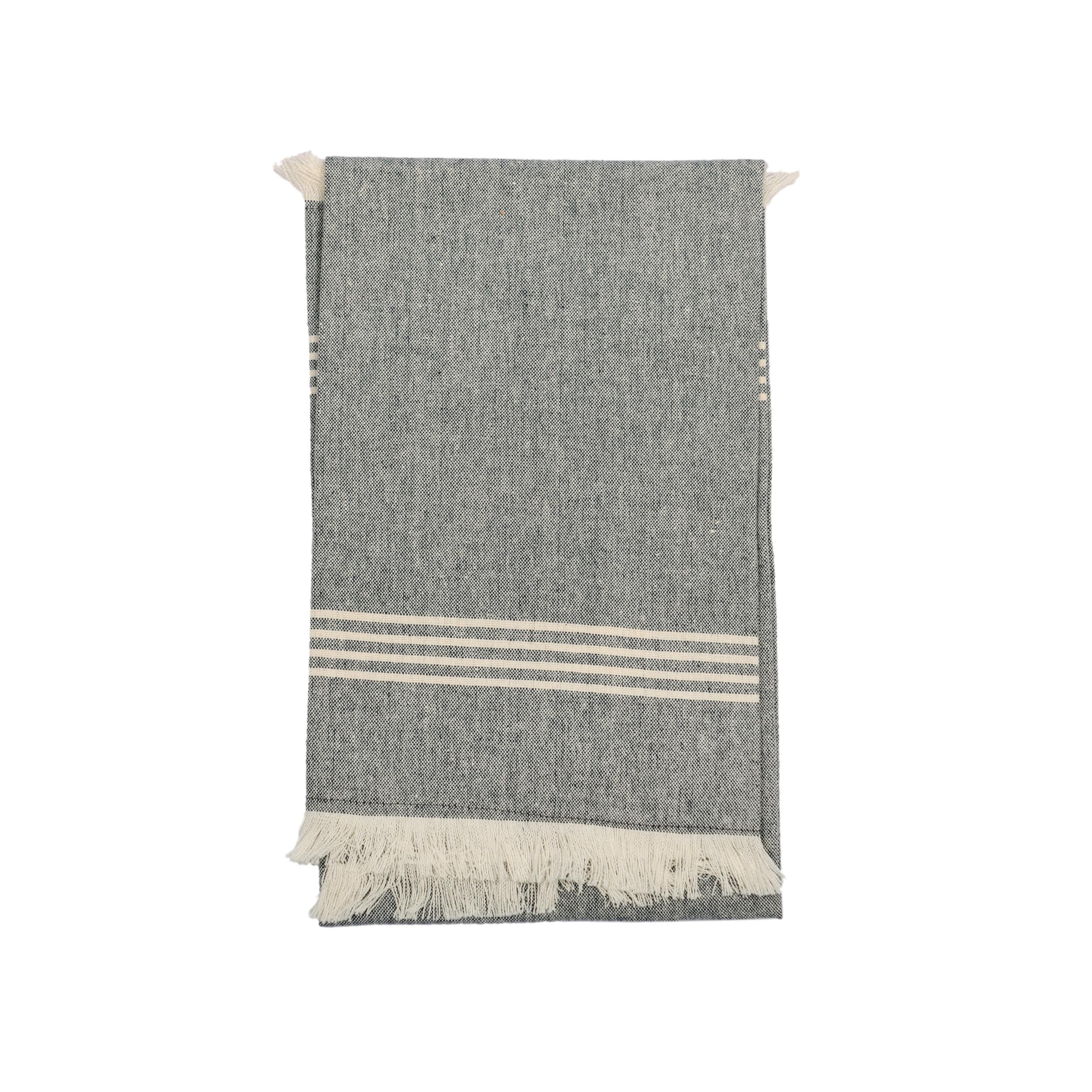 Kumas Large Navy & White Hand/ Tea Towel