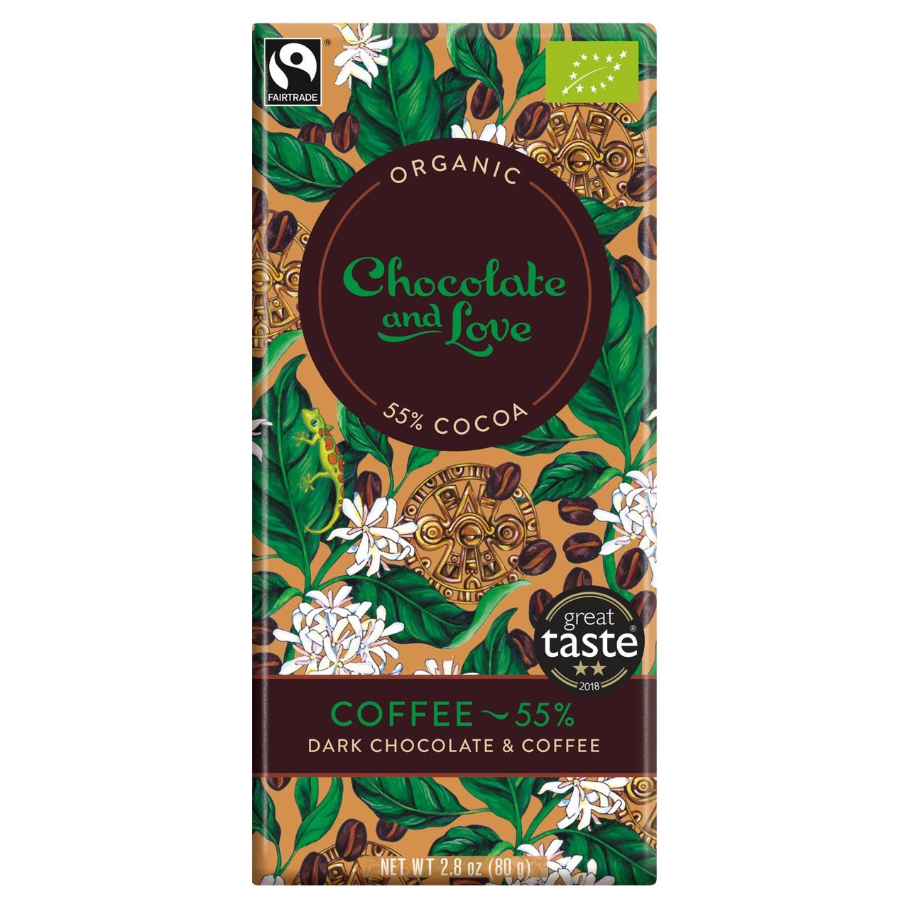 Coffee Chocolate & Love Organic Fairtrade Chocolate Bar