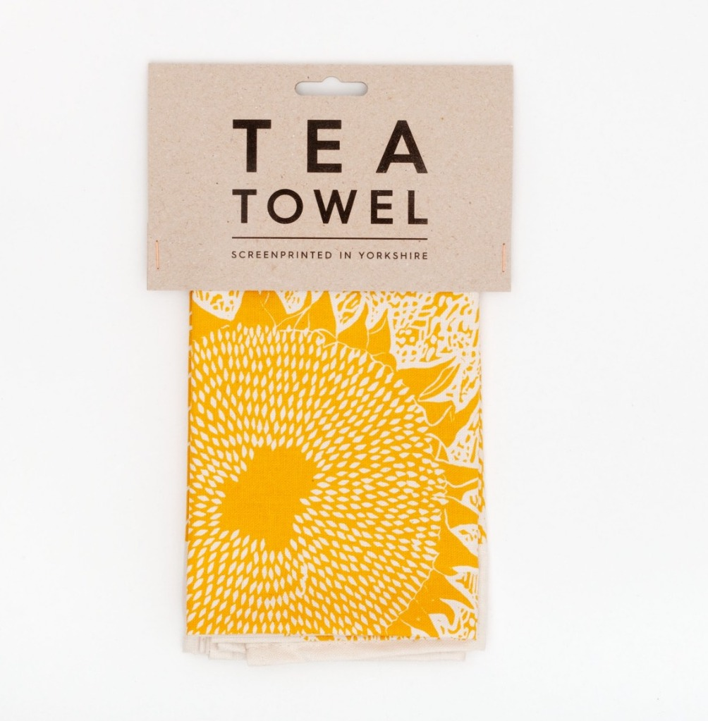Sunflower Tea Towel by Studio Wald