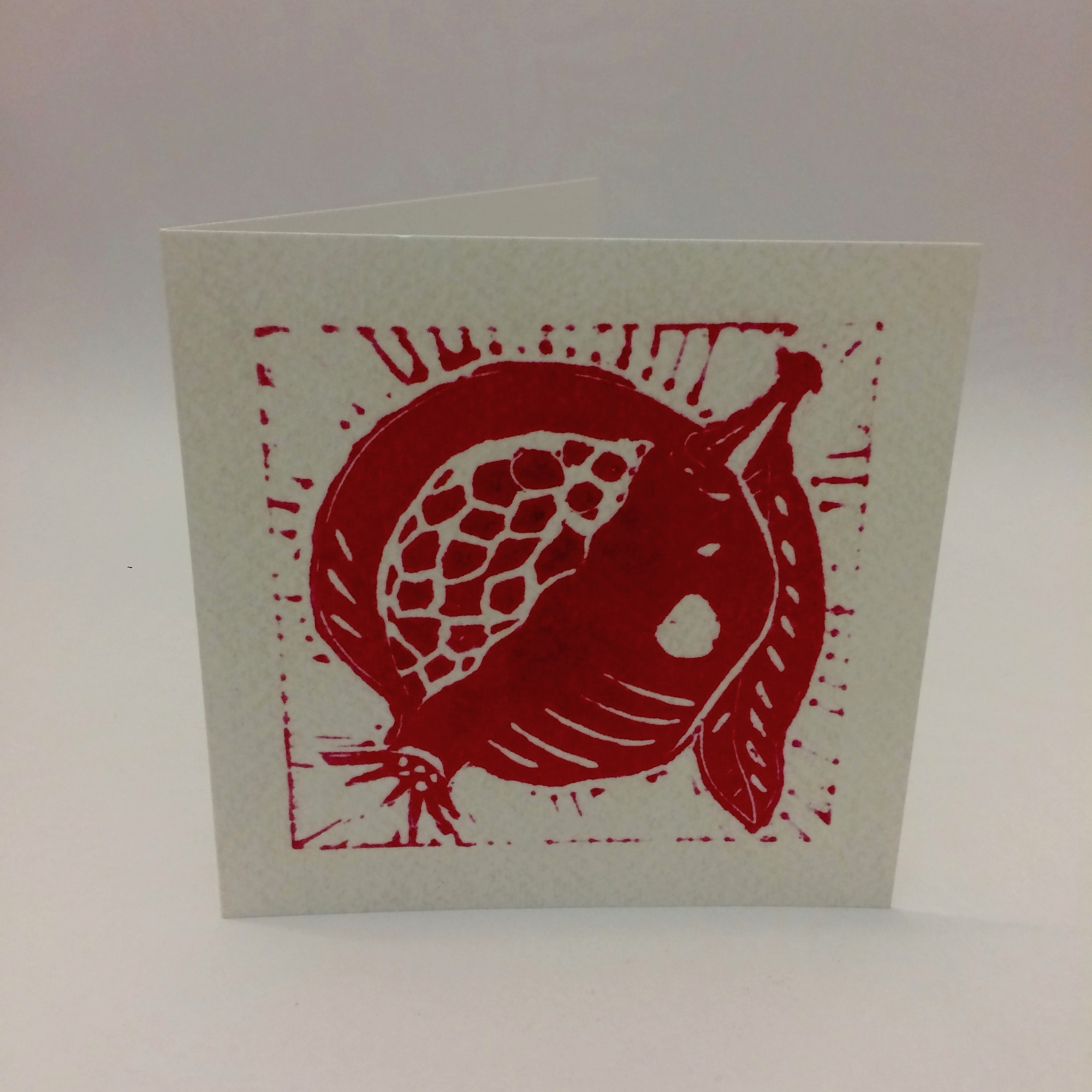 Pomegranate Greetings Card by Olivia Bishop