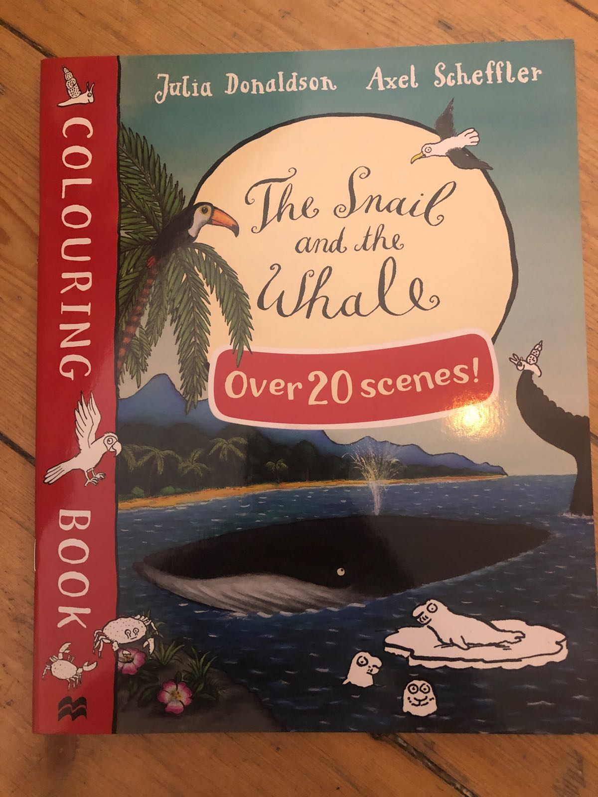 Colouring book The snail and the whale