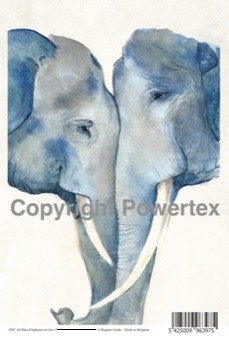 0397, Laserprint Blue elephants A4