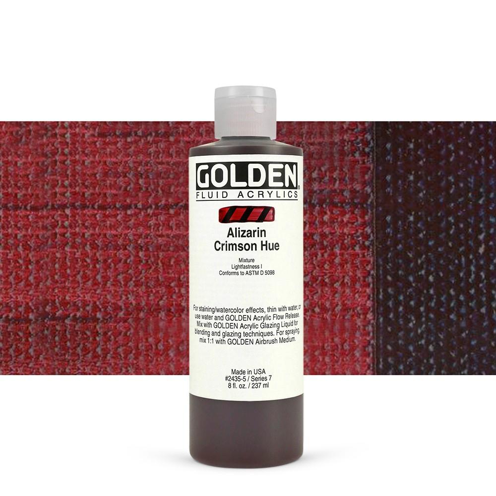 Golden fluid 118 ml alizarin crimson hue