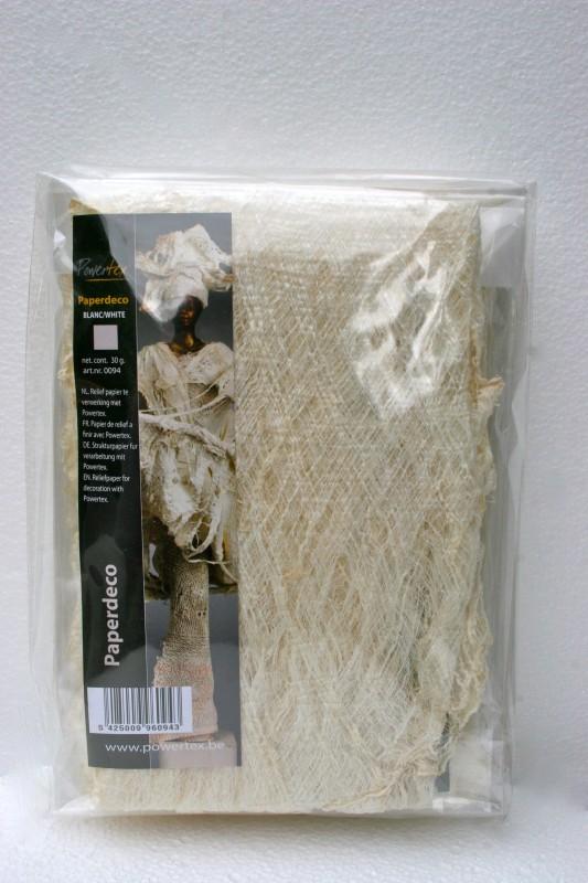 Papperdekoration elfenbensvitt, 0094, 40g