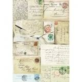 Postcard, silkespapper, 0300, A3