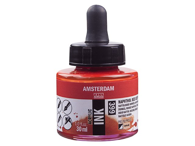 Amsterdam ink Naph. Red Deep 399, 30 ml