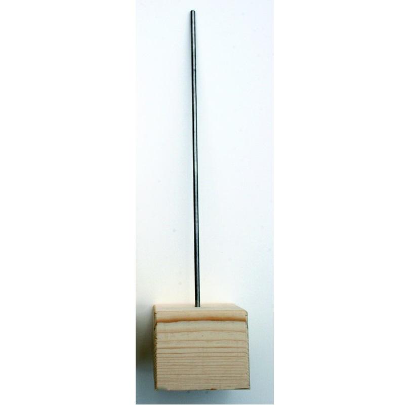 Stöd träsockel metallpinne, 0127