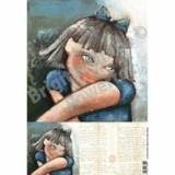 0350 Laserprint Blue eyed child A3