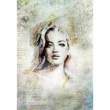 Porträtt, silkaspapper, 0303, A3