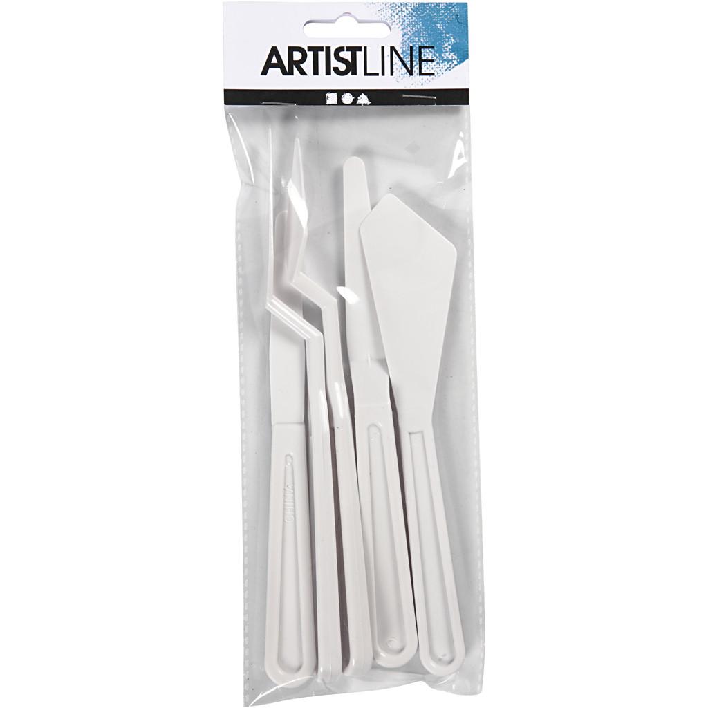 Spatlar/palettknivar i plast 5 st