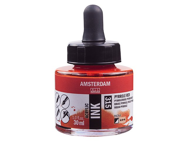Amsterdam ink Pyrrole Red 315, 30 ml
