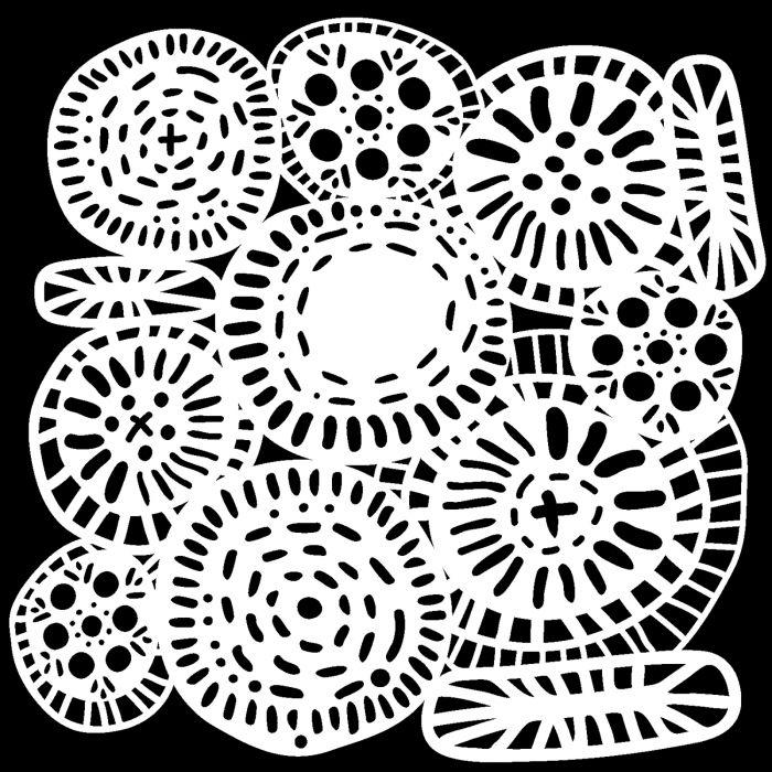 Circle Jumble 15,2x15,2cm