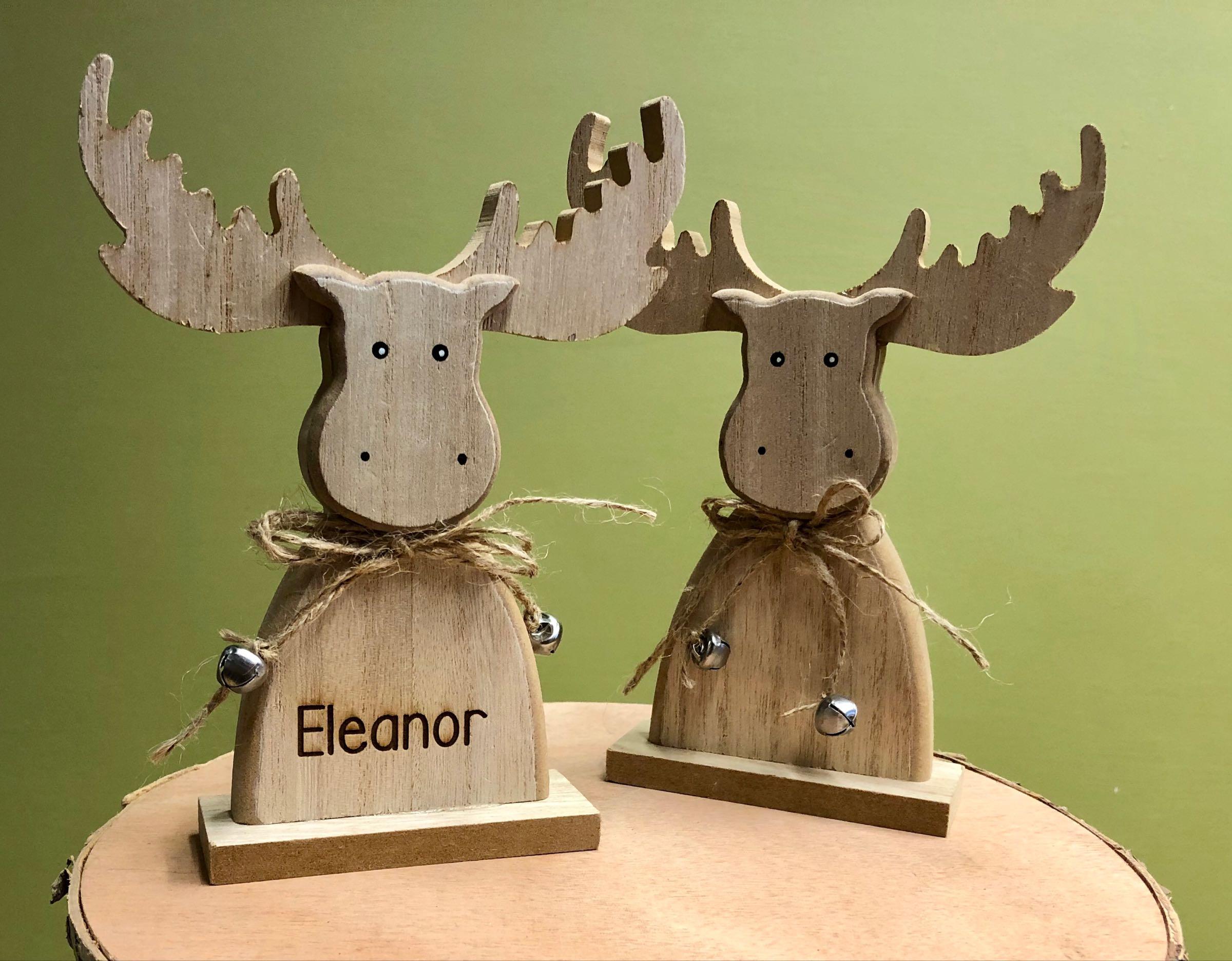 Wooden moose (personalised)