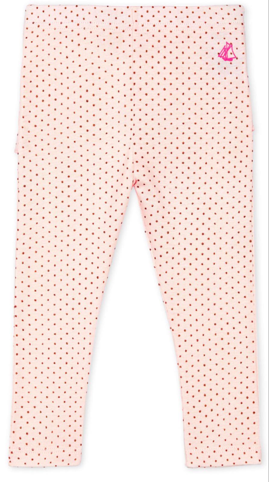 Petit Bateau Baby Girls' Pink Print Leggings