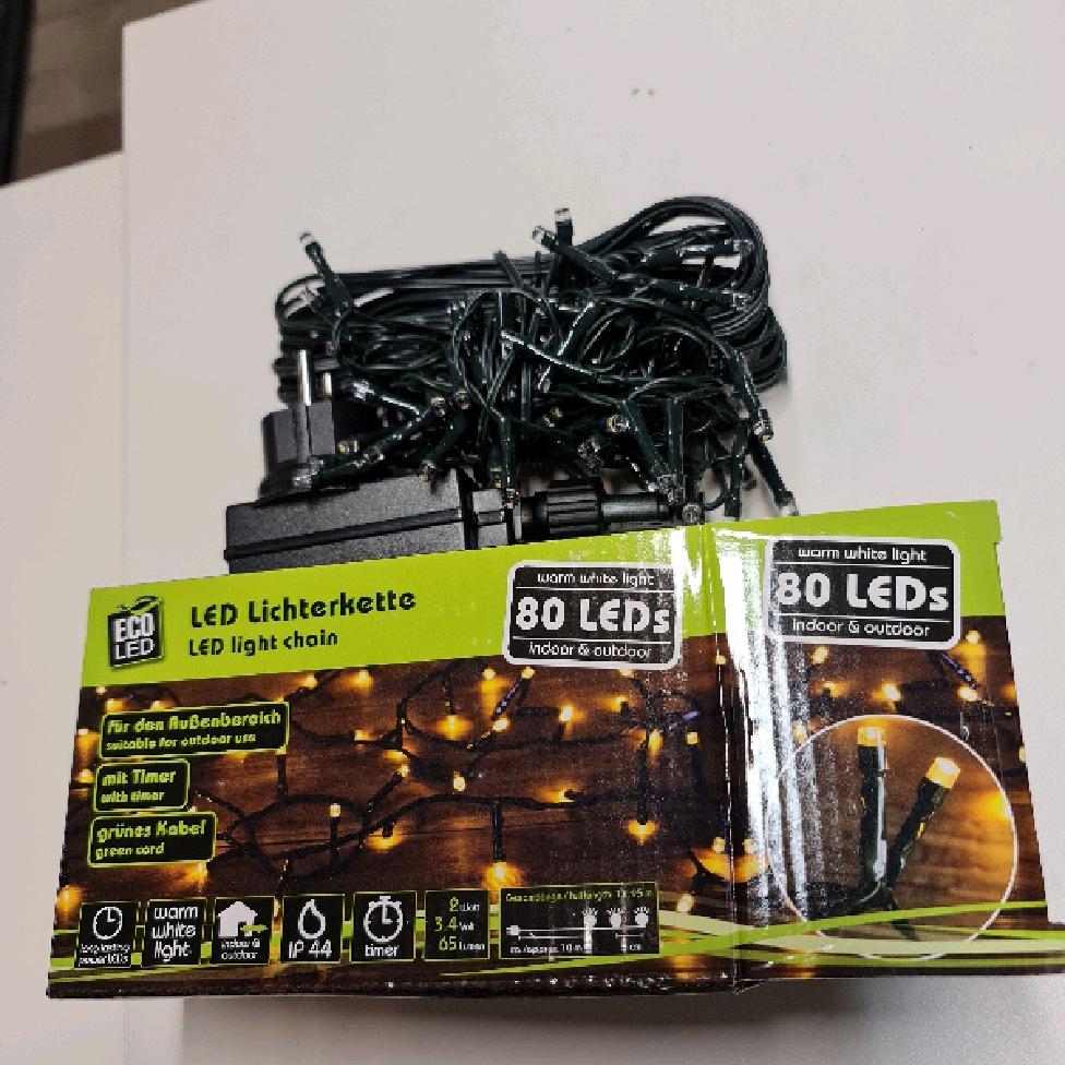 LED ljuskedja 80 ledlampor med timer
