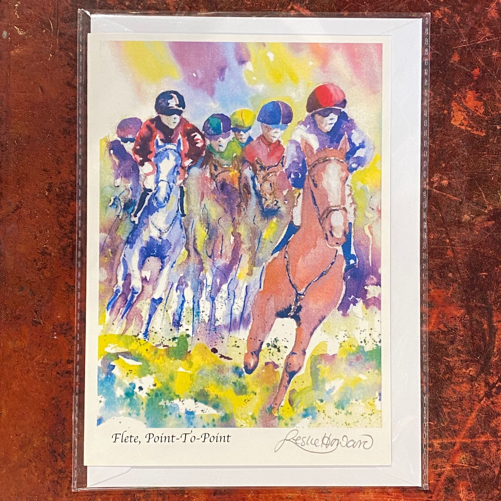 'Flete, Point-To-Point' Leslie Howard Card
