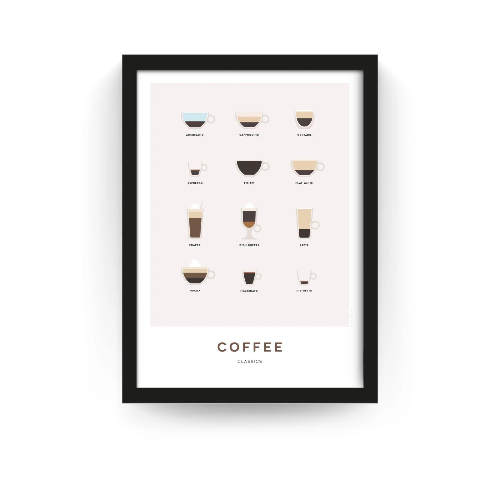 A3 Framed Coffee Print