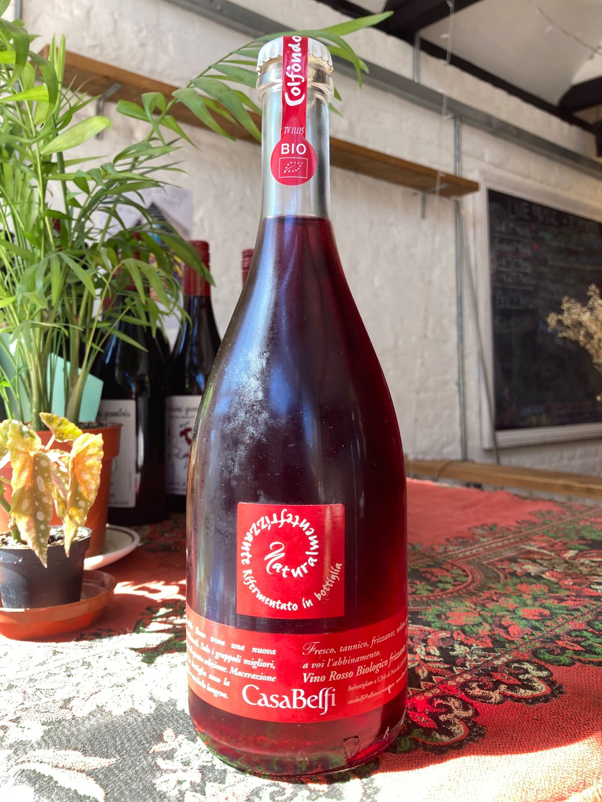 Casa Belfi - Col Fondo Prosecco DOC Frizzante/red (10.5%) (North-East Italy)