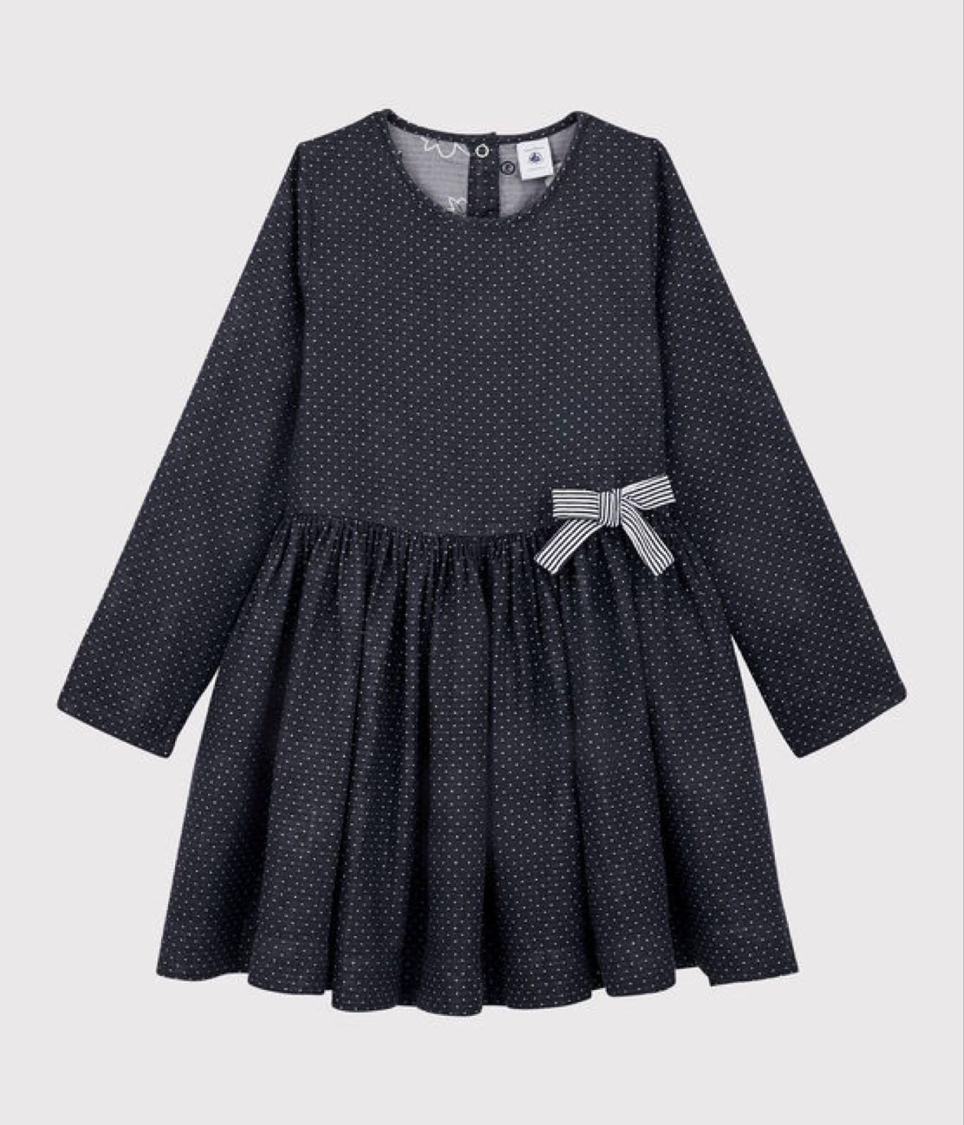 Petit Bateau Navy Pin Spot Dresss