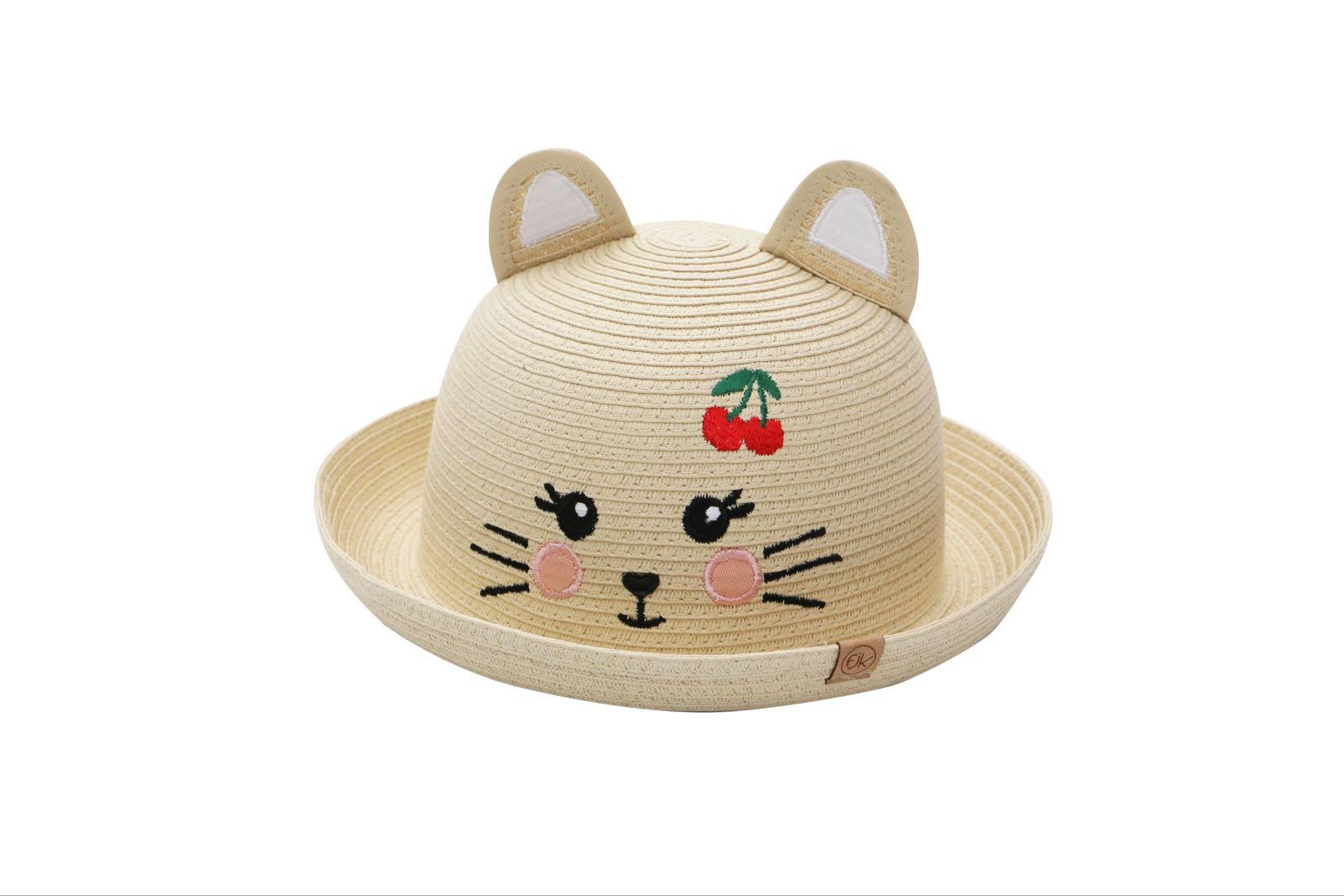 Flapjackkids Straw Hat Cat