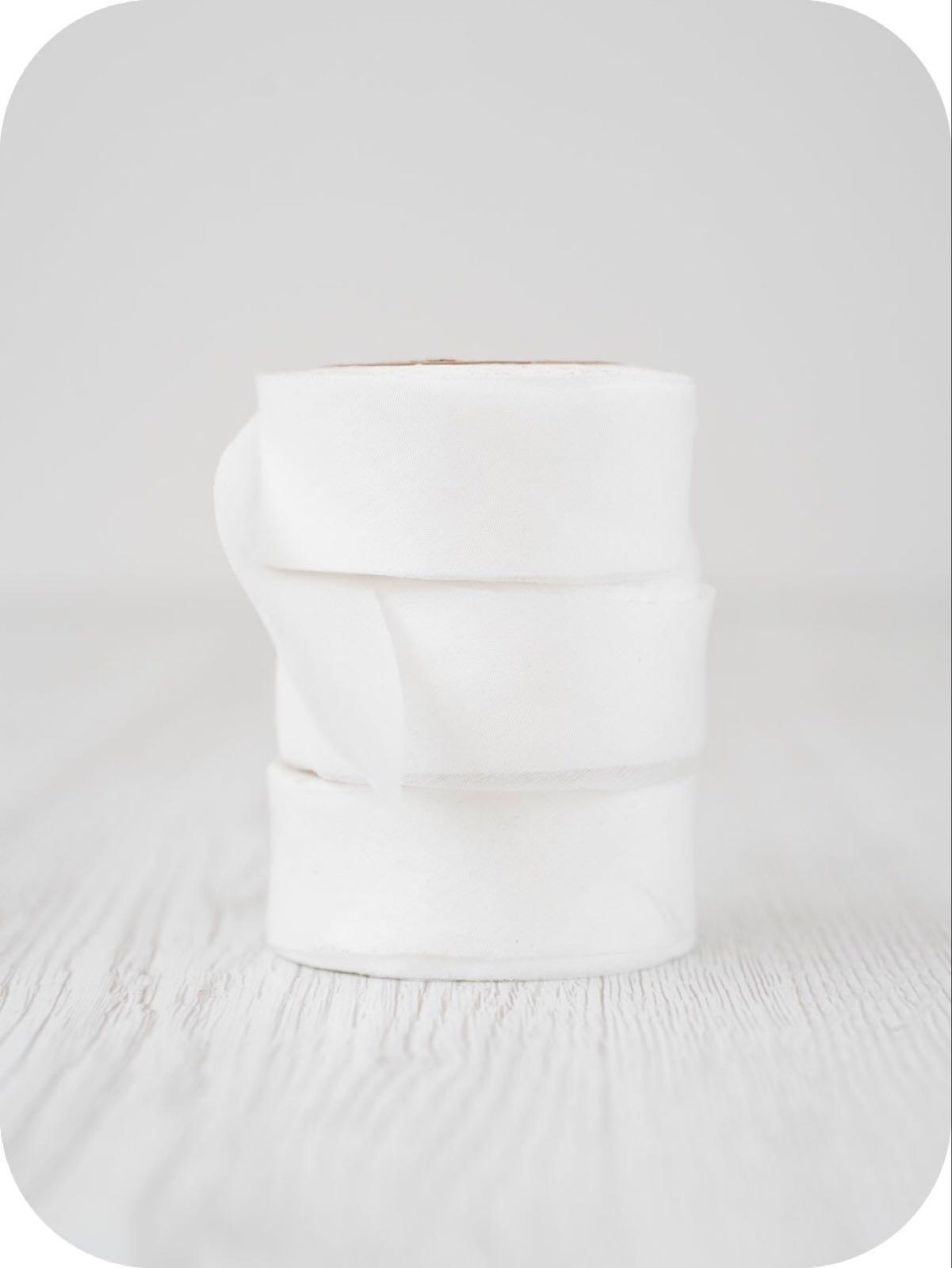 """Pongé 5 band 5 cm """"Natural white"""