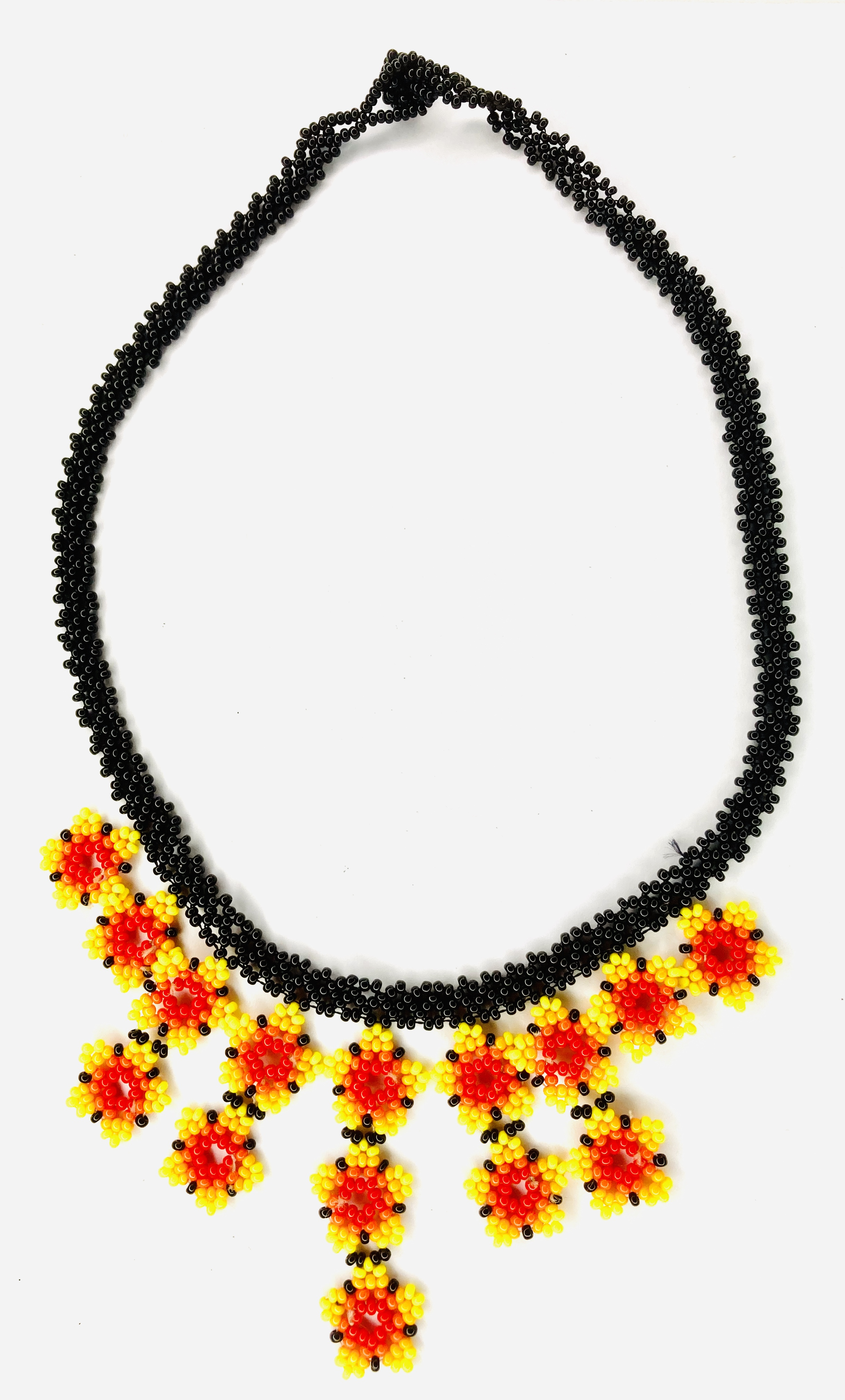 Fulni-ô People: Yellow, Red and Black Handcrafted Necklace