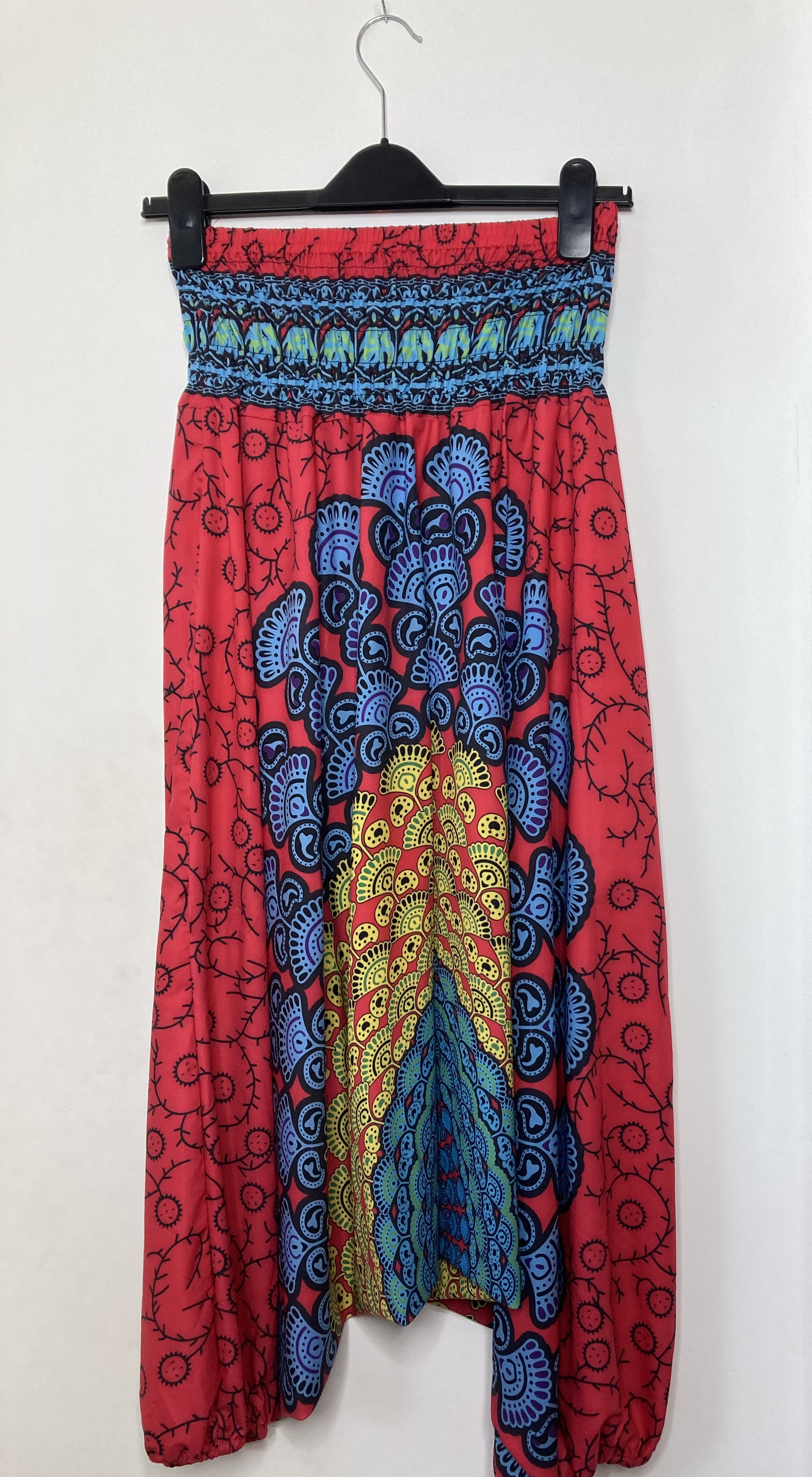 Red and Blue Harem Trousers