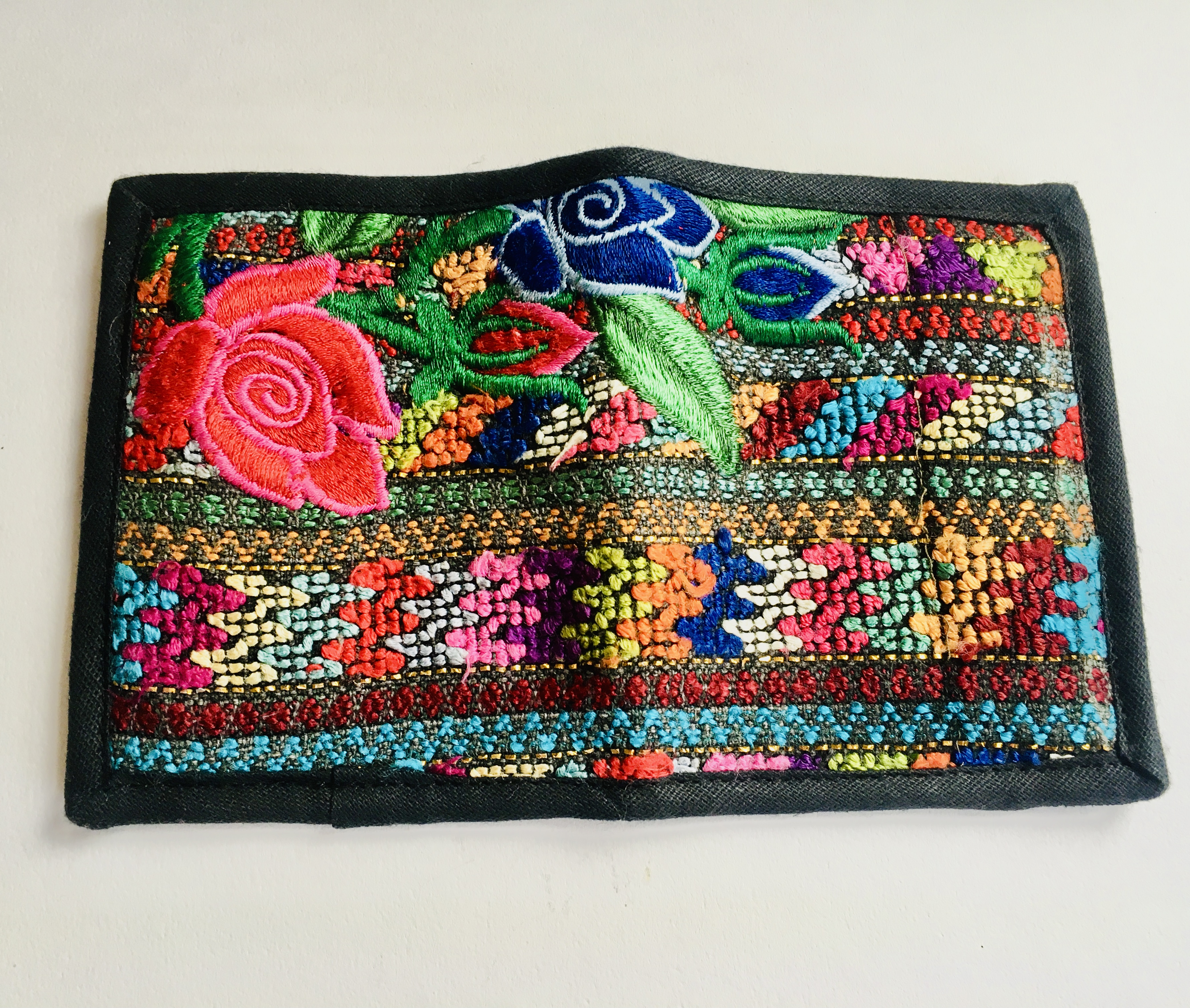 Colourful Embroidered Wallet