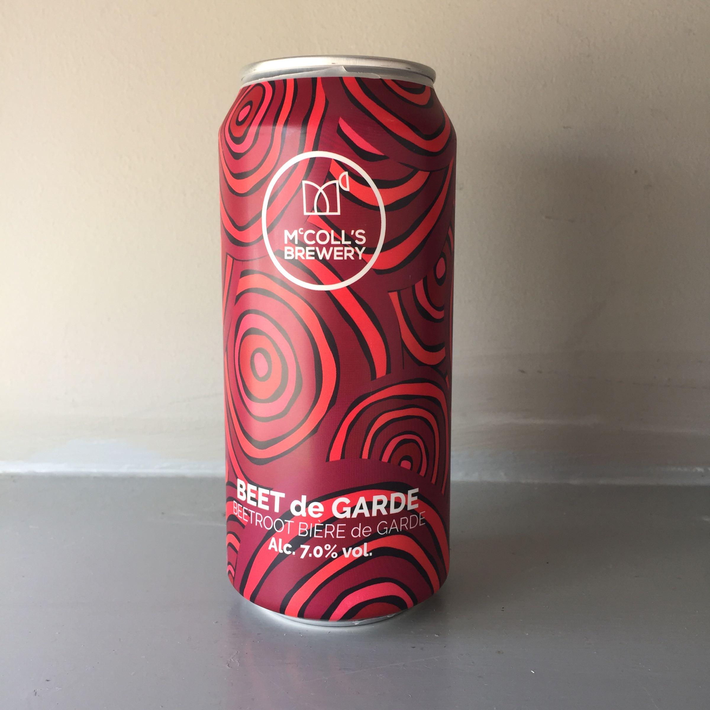 McColls Brewery 'Beet de Garde' Beetroot Bière de Garde 440ml 7.0% ABV
