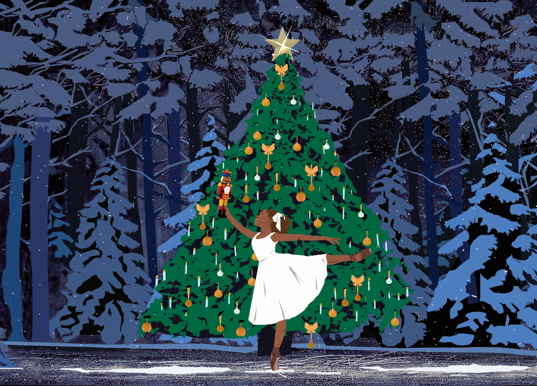 Ballet Black Christmas Cards
