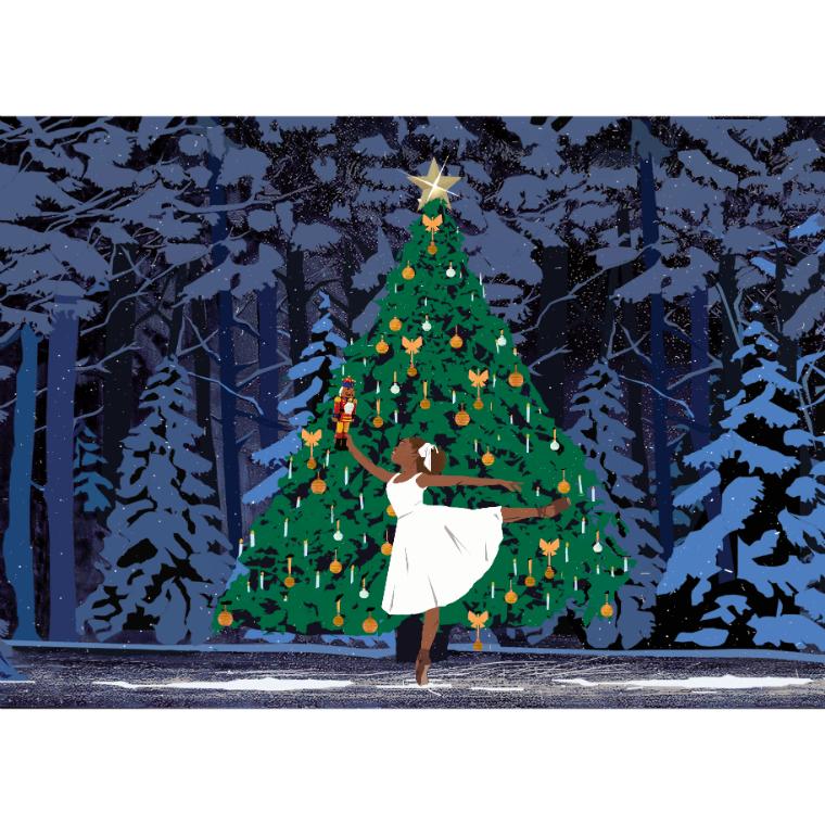 Ballet Black Christmas Cards (pack of 10)