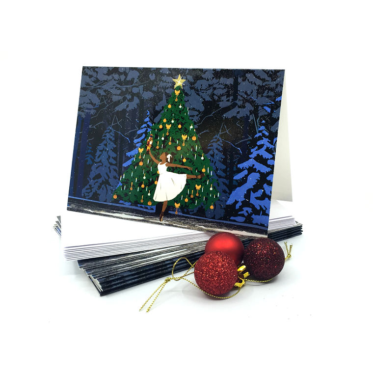 Ballet Black Christmas Cards (pack of 10)