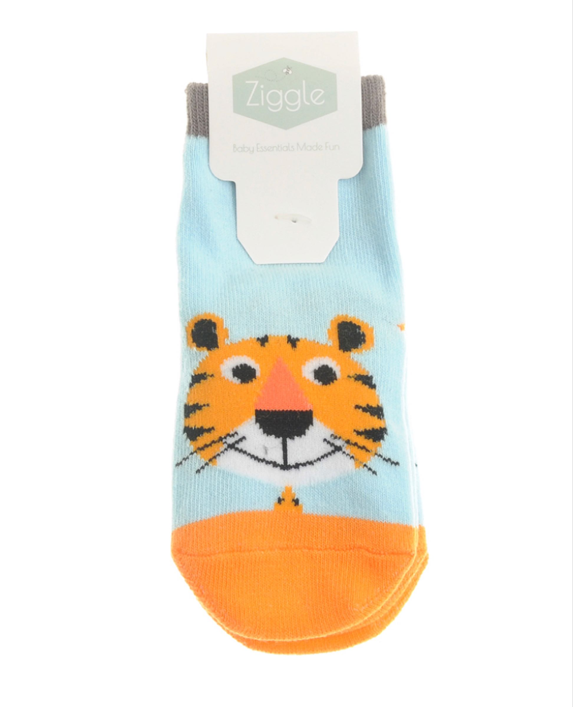 Ziggle Terrence Tiger 2 pairs of Socks 18-24 months  2 pairs